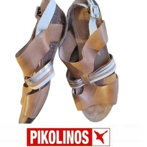 Pikolinos leather wedge sandals